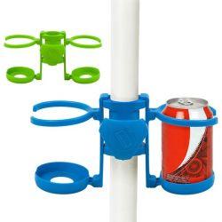 ombrellone con porta bicchieri da spiaggia 112261 bigbuy outdoor