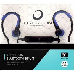 auricolare bluetooth sportivo con microfono brigmton bml-11-a azzurro