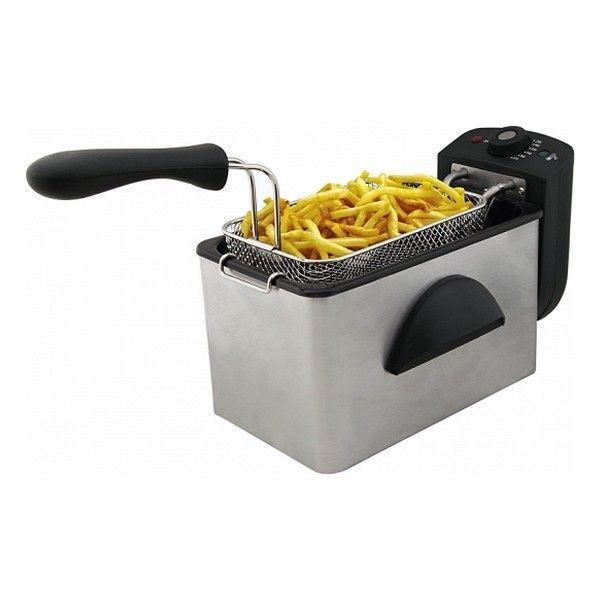 friggitrice comelec fr3082 2 l 2000w nero acciaio inossidabile