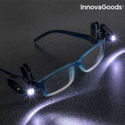 clip led per occhiali 360° innovagoods pacco da 2