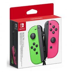 coppia controller switch joy-con verde neon / rosa neon