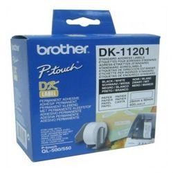 etichette per stampante brother dk11201 29 x 90 mm bianco