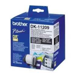 etichette per stampante brother dk11209 62 x 29 mm bianco