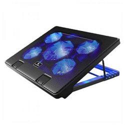 """base di raffreddamento per pc portatile coolbox coo-ncp17-5bl 12""""-17"""" nero"""