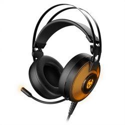 auricolare con microfono gaming krom kayle usb nero arancio