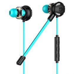 auricolari con microfono gaming hiditec ghe010002 3.5 mm nero azzurro