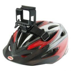 cinghia per supporto per fotocamera sportiva per casco di bicicletta nero bigbuy sport