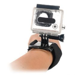 imbracatura da polso per fotocamera sportiva nero bigbuy sport