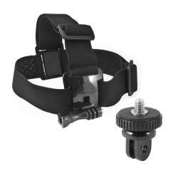 imbracatura da testa per fotocamera sportiva nero bigbuy sport
