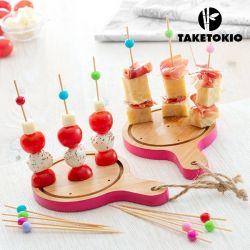 set di bambù per tapas mini taglieri taketokio 16 pezzi