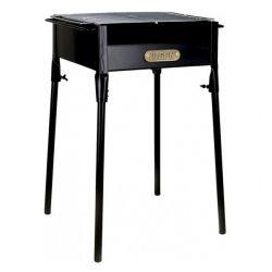 barbecue a carbone con gambe algon nero 40 x 34 x 62 cm