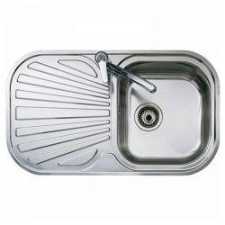 lavello da una vasca con scolapiatti teka acciaio inossidabile
