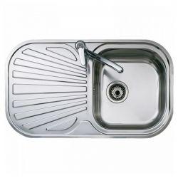 lavello da una vasca con scolapiatti teka reversibile acciaio inossidabile