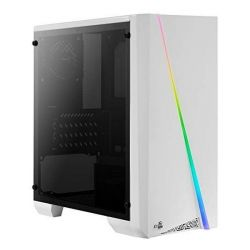 case minitorre micro atx / itx aerocool cylonminiw rgb led bianco