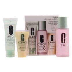 cofanetto cosmetici donna 3 steps intro skin type iii clinique 3 pz 100 ml