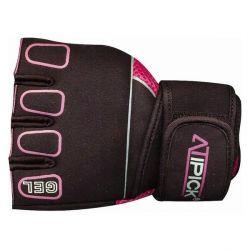guanti da allenamento atipick gth1010 nero rosa taglia l