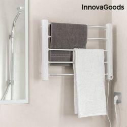 portasciugamani elettrico da parete innovagoods 65w bianco grigio 5 aste
