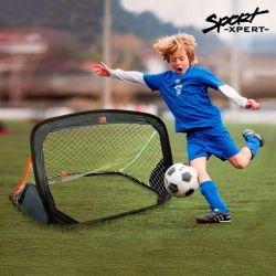 porta di calcio pieghevole bigbuy sport