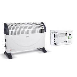 riscaldamento elettrico a convezione kiwi kht-8442 bianco 1500w