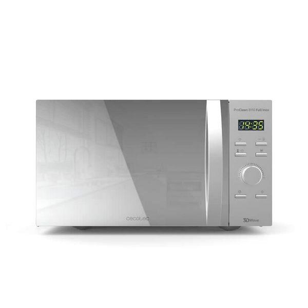 microonde con grill cecotec proclean 8110 28 l 1000w argentato
