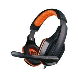 auricolari con microfono gaming tritton blackfire bfx-10 ps4 nero arancio