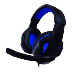auricolari con microfono gaming ps4/xbox nuwa st10 nero azzurro