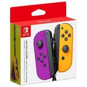coppia controller switch joy-con viola neon / arancione neon