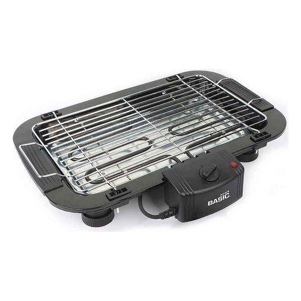 barbecue elettrico basic home 2000w 49 x 36 x 10 cm nero