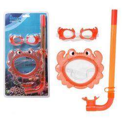 occhialini da snorkeling e boccaglio per bambini 115098 bigbuy outdoor