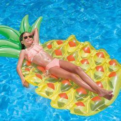 materassino gonfiabile ananas 115829 bigbuy outdoor