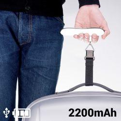 bilancia pesa valigie con power bank 2200 mah 145336 bigbuy gadget