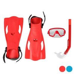 maschera da snorkeling con boccaglio e pinne adulti bigbuy outdoor