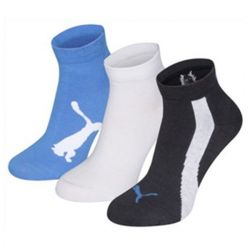 calzini sportivi puma lifestyle 3 perechi azzurro bianco blu scuro