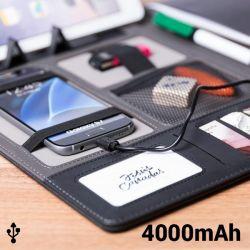 cartellina con power bank 4000 mah 20 foglie 146024 bigbuy tech