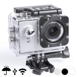 "fotocamera sportiva 4k 2"" 360º wifi 16 pz bigbuy tech"