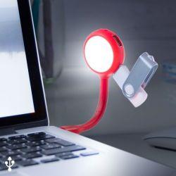 lampada led con porte usb 144858 bigbuy tech