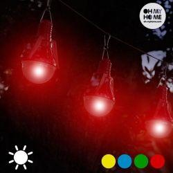 lampadina solare confezione da 4 bigbuy home