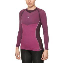 maglia termica da donna sport hg hg-8050 nero fucsia