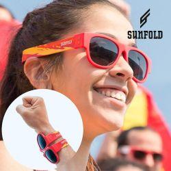 occhiali da sole arrotolabili sunfold spain red