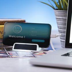 porta usb 2.0 con supporto per cellulare 145993 bigbuy tech