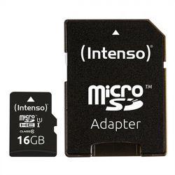 scheda micro sd con adattatore intenso 34234 uhs-i premium nero