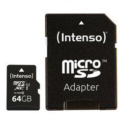 scheda micro sd con adattatore intenso 34234 uhs-i xc premium nero