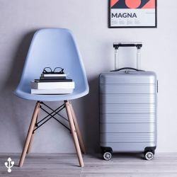 trolley con caricabatterie usb e supporto per tablet 37,5 x 57 x 23 cm 146016 bigbuy gadget