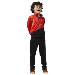 tuta da bambini reebok b es tric ts rosso nero