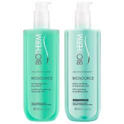 cofanetto cosmetici donna biosource duo biotherm 2 pz pelle normale 400 ml