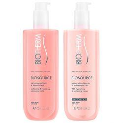 cofanetto cosmetici donna biosource duo biotherm 2 pz pelle secca 400 ml