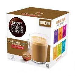 capsule di caffè nescafé dolce gusto 97934 café au lait 16 pz decaffeinato