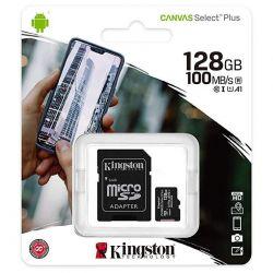 micro sd kingston 128gb classe 10 + adattatore sd sdcs2/128gb