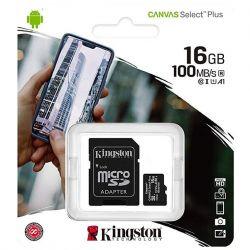 adattatore micro sd kingston 16gb classe 10 sdcs2/16gb + sd