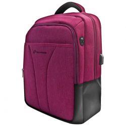 "techmade zaino techbag-t-puper notebook 15,6"" con porta usb purple techbag-t-pu"